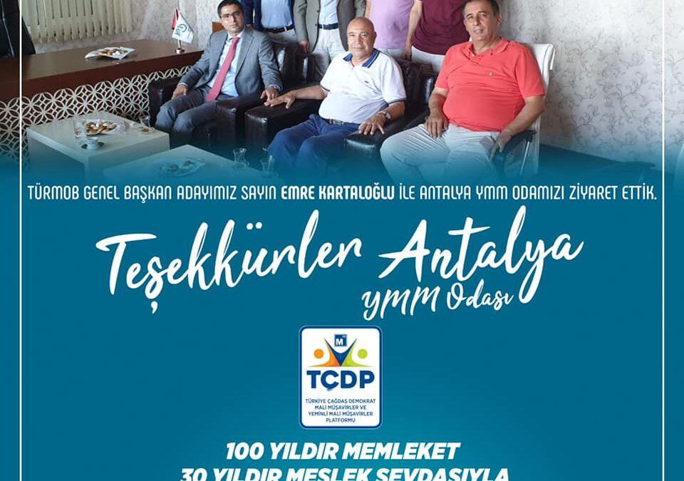 Teşekkürler Antalya YMM Odası
